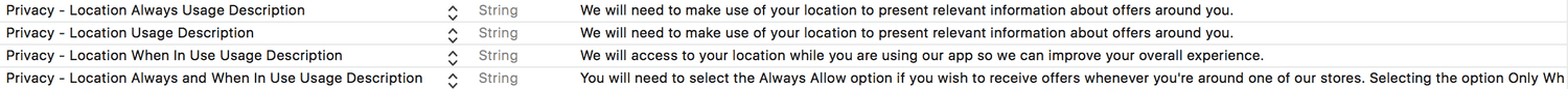 ios location privacy plist entries