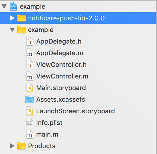 xcode copied lib v2