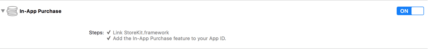 xcode capability in app purchase