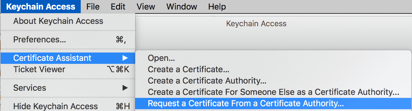 developer portal keychain access request