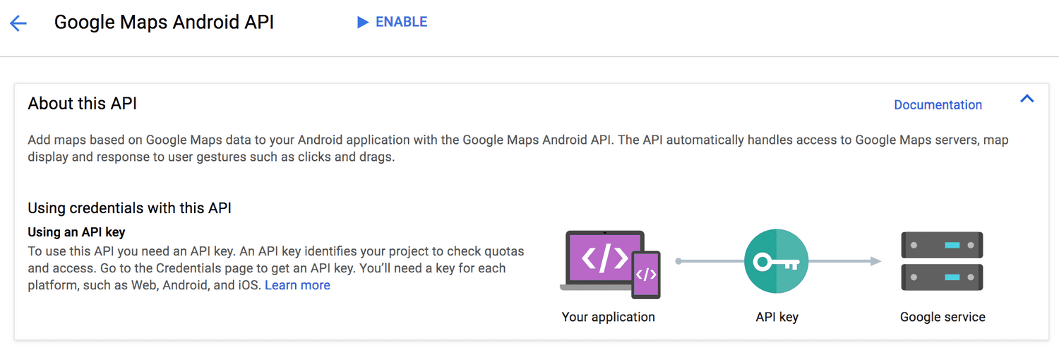 google console enable maps