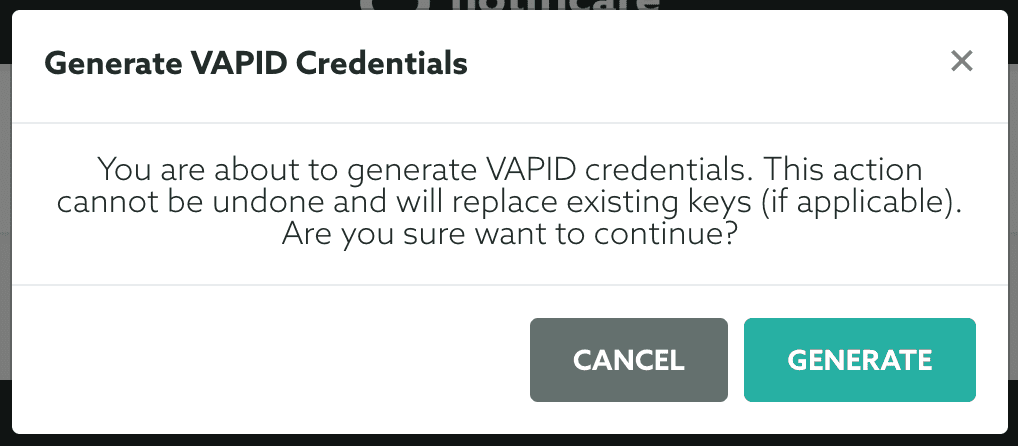 generate vapid