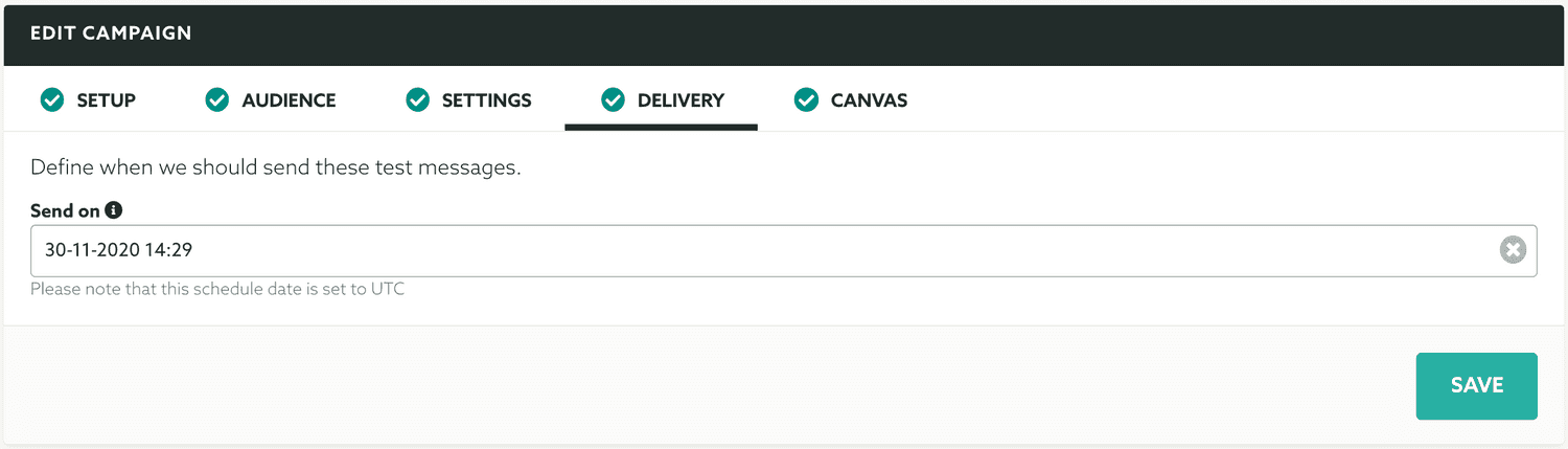 delivery tab